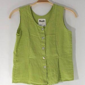 Flax Women Size XS Petite Linen Top, (#F121)